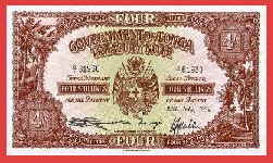 FOUR SHILLING GOVERNMENT OF TONGA